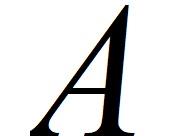 Буква А